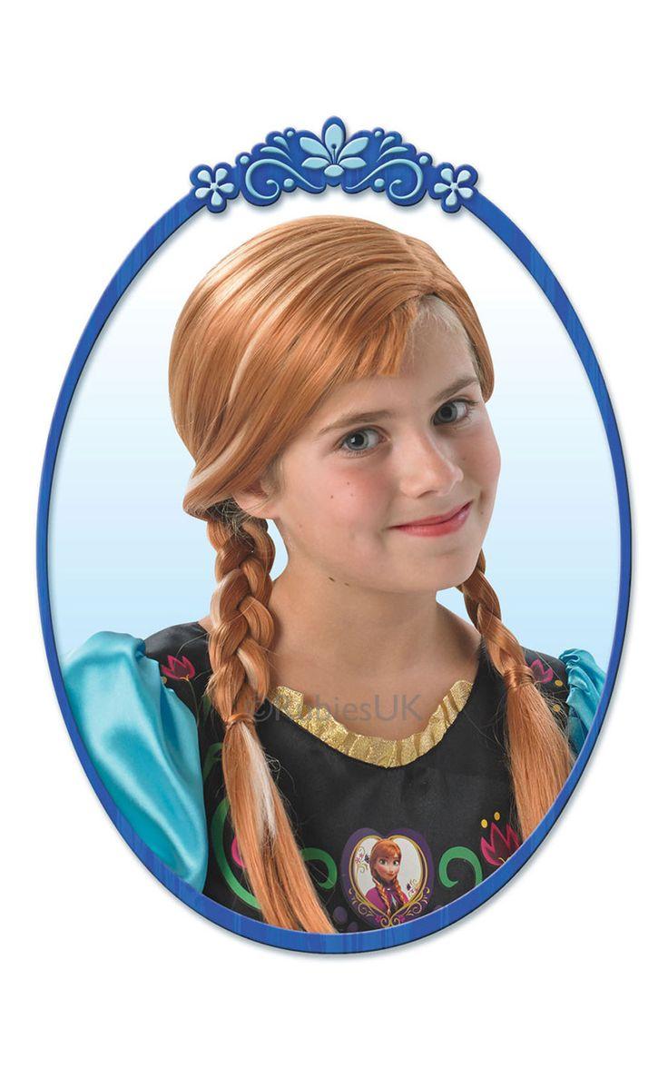Frozen Anna -peruukki. Peruukki on lisensioitu Disney Frozen -tuote.