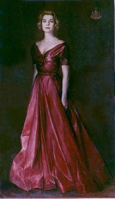 Official portrait of HSH Princess Grace of Monaco painted by Mohamed Drisi in 1958.