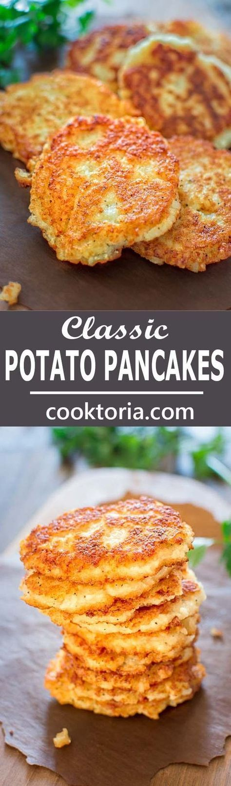 So simple, yet unbelievably tasty, these Classic Potato Pancakes are not to be missed! ❤️ http://COOKTORIA.COM