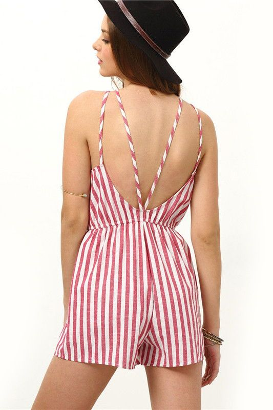 Casual Striped Romper FREE WORLDWIDE SHIPPING