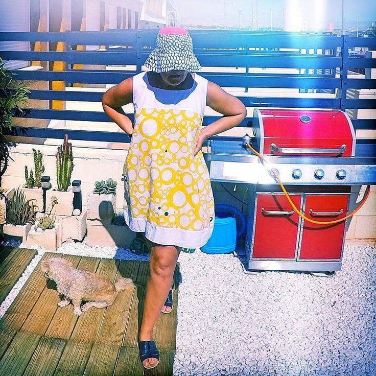 #dress made of #recycledmaterial #recycle #recycled #reciclaje #reciclajecreativo #reciclajeconestilo #hechoamano #handmade #sewing #coser #style #moda #fashion #summer  #midiseño #mydesign #sustainable #sustainableliving #sustanible #sustaniblefashion #vhga #granalacant #santapola #ethicalfashion #vestido #sundress #resortwear