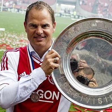 Ajax - Frank de Boer the trainer of Ajax on this moment.