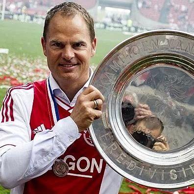 Frank de Boer, trainer of Ajax. championship 2012-2013