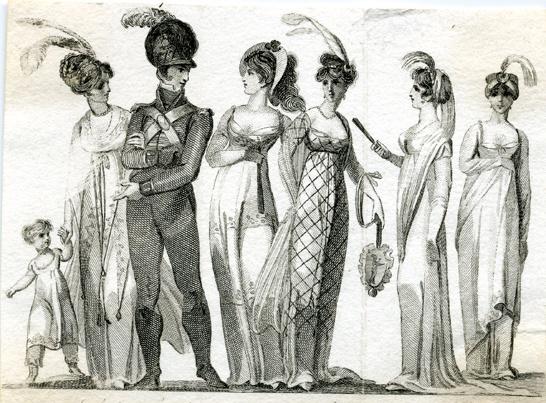 Regency group - etching.