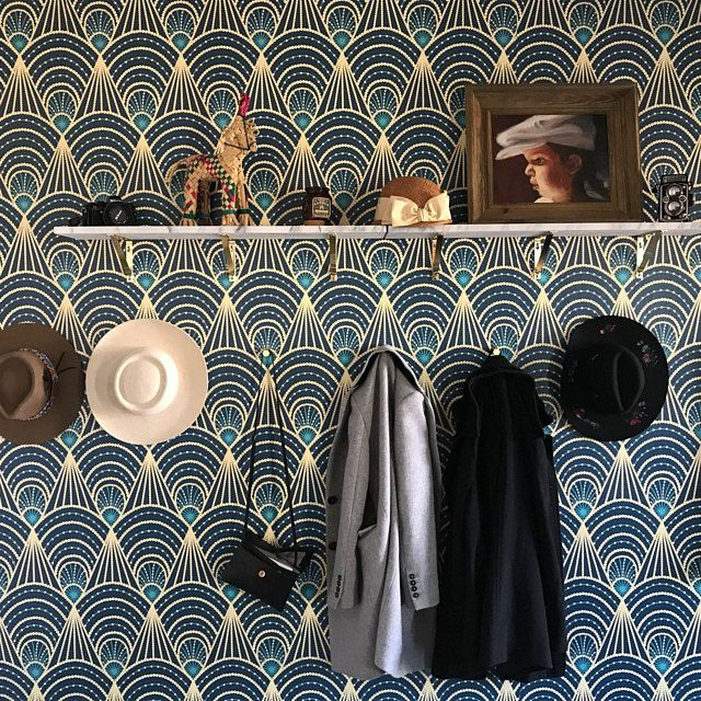 Removable Vinyl Wallpaper Festival Art Deco Self Adhesive Peel