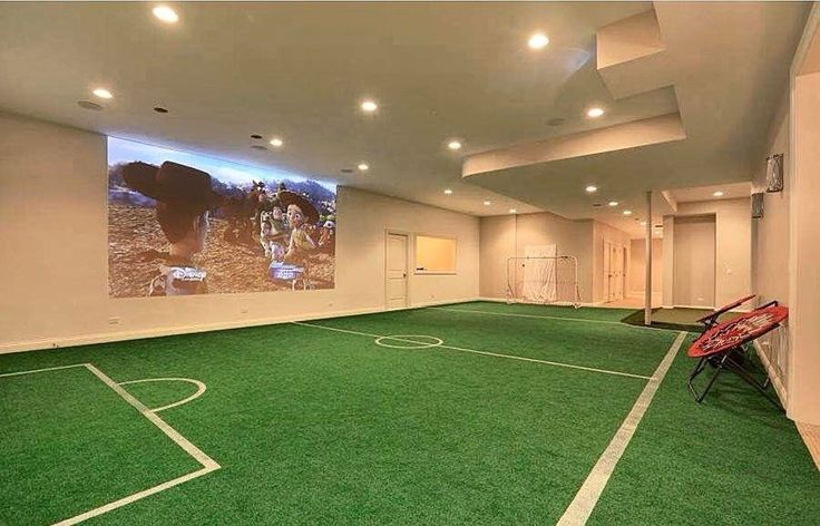 Basement Soccer field anyone?!️️Credit to @a_perry_homes... - Home Decor For Kids And Interior Design Ideas for Children, Toddler Room Ideas For Boys And Girls #soccerBoysandGirls