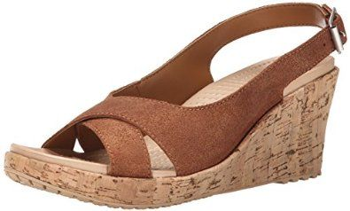 I have these in black, but I need this color too...crocs Women's A-Leigh Shimmer Leather Slingback Wedge