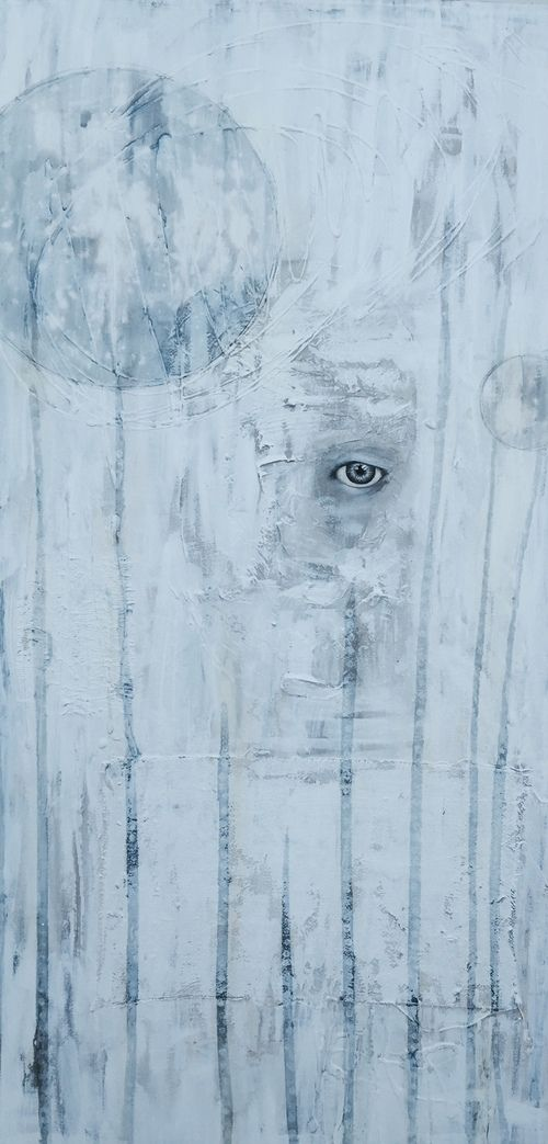 """""""Holding on to keep you."""" 50x100 cm"""