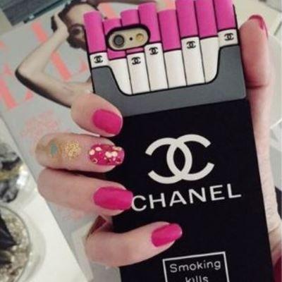 Cc smoking kills iphone 5, 6, 7 pink silicone case cc
