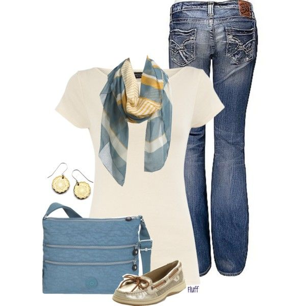 """sandy"" by fluffof5 on Polyvore: Fashion, Outfit Ideas, Dream Closet, Spring Summer, Styles, Sandy, Casual Outfits, Scarf, Spring Outfits"