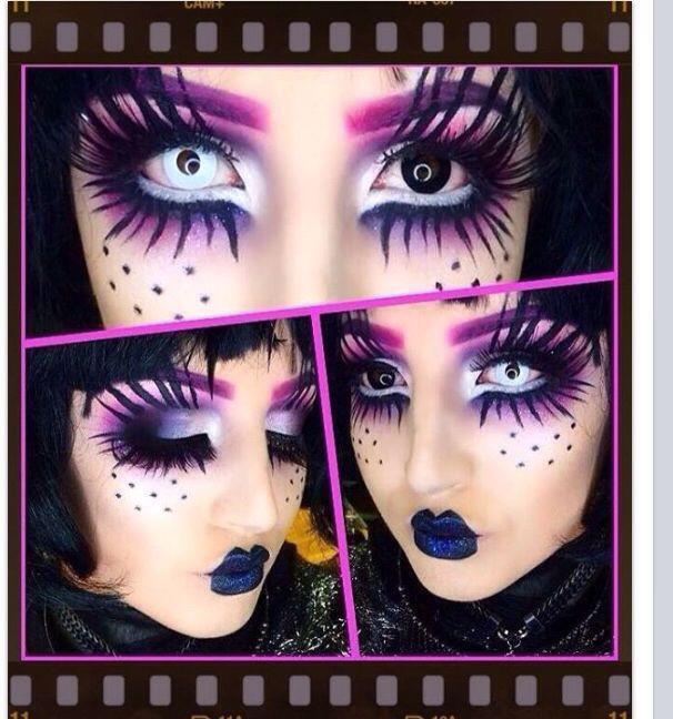 Halloween makeup. Edward scissor hands. Makeupstudio.