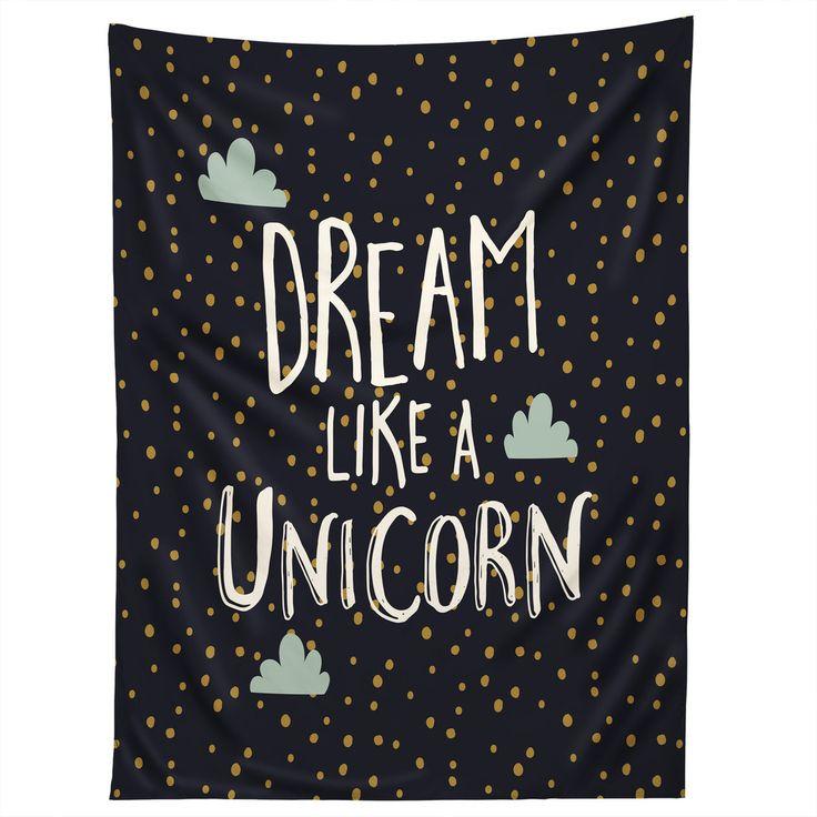 Zoe Wodarz Dream like a Unicorn Tapestry | DENY Designs Home Accessories