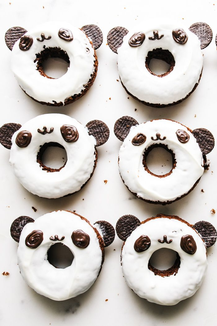Baked Double Chocolate Panda Donuts · i am a food blog