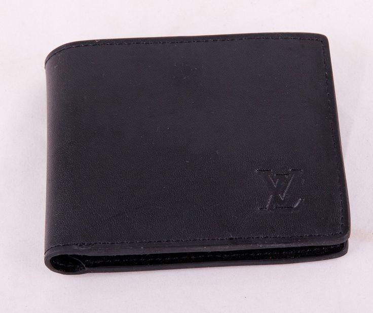 Кошелек Louis Vuitton черный кожаный. Размер 12х10х2см #19142