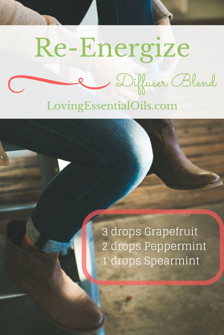 Re-Energize Essential Oil Diffuser Blend Recipe | Grapefruit Oil | Peppermint Oil | Spearmint Oil | Diffuse in Your Home or Office | Diffusing Recipes