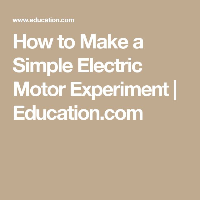 17 Best Ideas About Electric Motor On Pinterest Physics