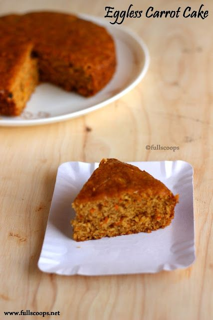 Eggless Carrot Cake                                                                                                                                                                                 More