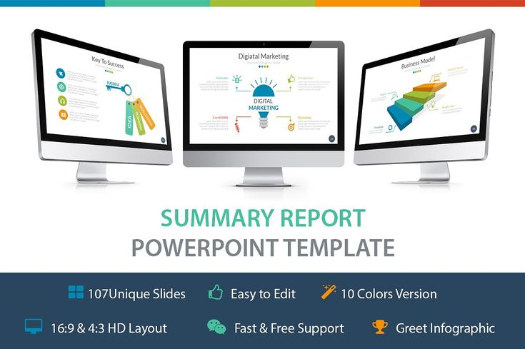 Summary Report Powerpoint Template - Presentations