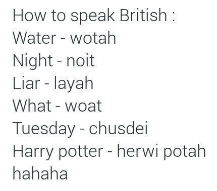 how to speak british