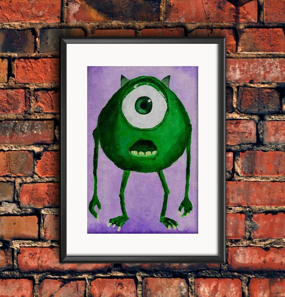 Check out this item in my Etsy shop https://www.etsy.com/ca/listing/546823653/monsters-inc-mike-wazowski-disney-pixar