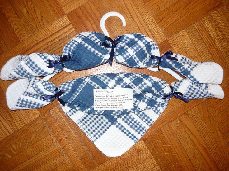 Gag Gift Dishcloth Bikini