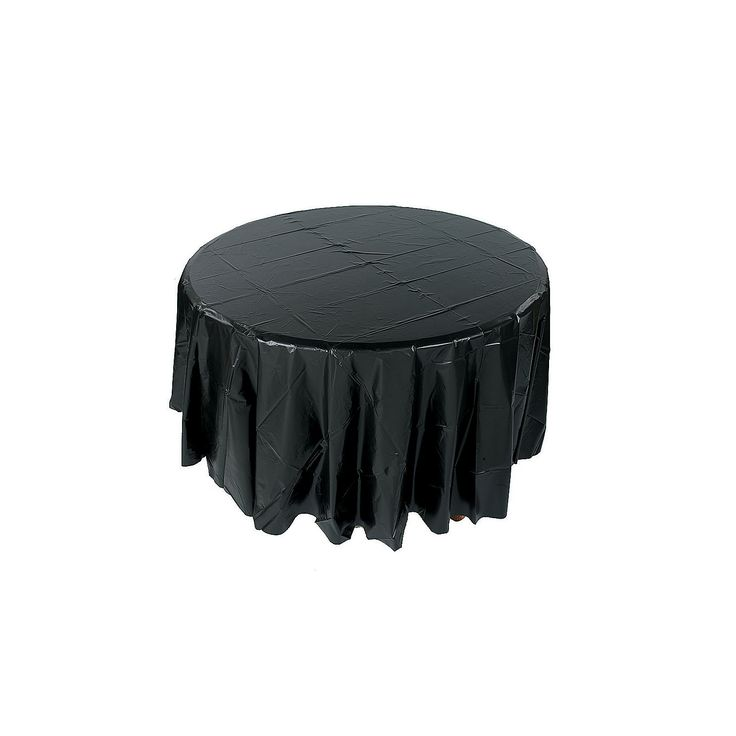$3.00 Each Black Round Table Cover - OrientalTrading.com