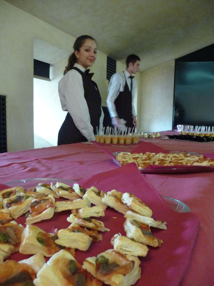 Il buffet finale preparato dai compagni degli allievi vincitori con impresa formativa FORMEL