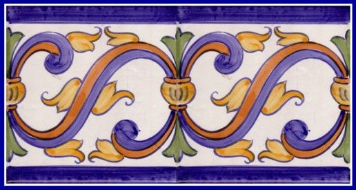 Galleries - A1-Portuguese tiles - 7-Cascais Border