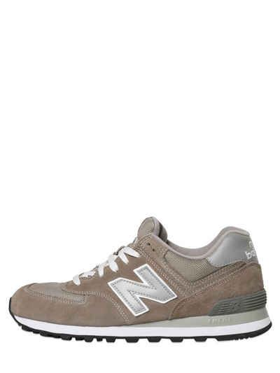 NEW BALANCE 574 MESH & SUEDE SNEAKERS. #newbalance #shoes #