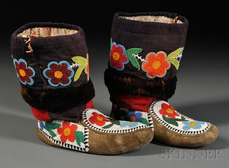 Cree Floral Beaded Moccasins