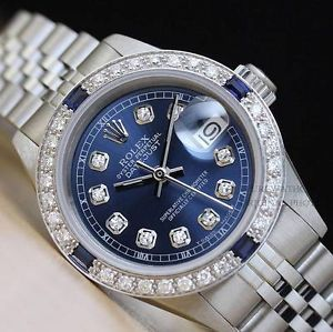 Ladies Rolex 6917 Datejust Oyster Perpetual 18K White Gold Watch