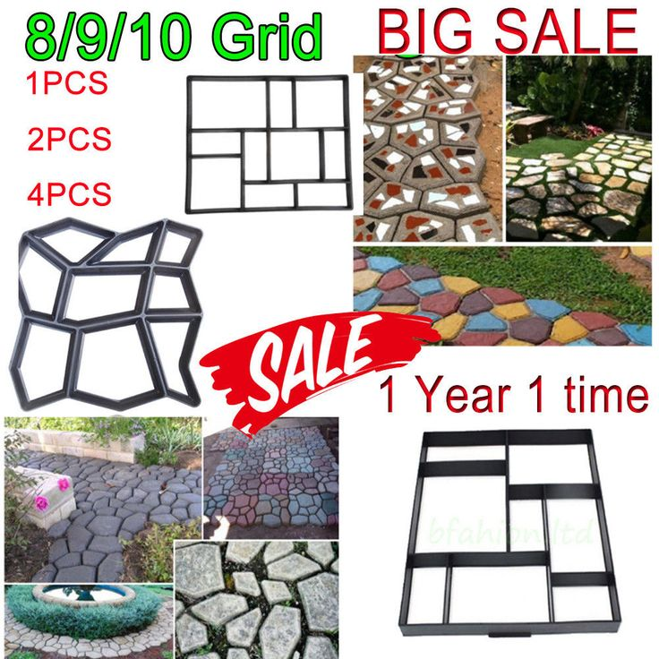 Blk Driveway Paving Brick Solid Concrete Slabs Path Garden Walk Maker Mould Sale