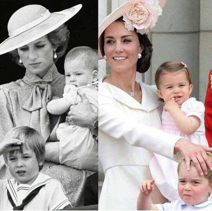 Princess Diana With Prince William & Prince Harry  ... Kate Middleton With Prince George & Princess Charlotte