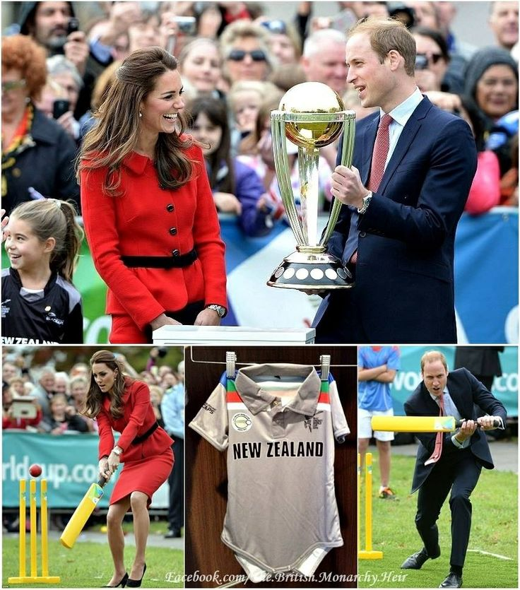 A day at the Cricket for William and Kate as well as a New Zealand Cricket Team Onesie for Prince George.