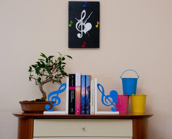 Fermalibri in legno Chiavi di violino di FantasieArtigianali
