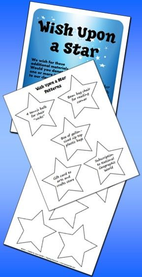Free! Wish Upon a Star is a system for requesting materials for your classroom during open house or on the first day of school. It's a freebie from Laura Candler's Back to School Super Start Pack!