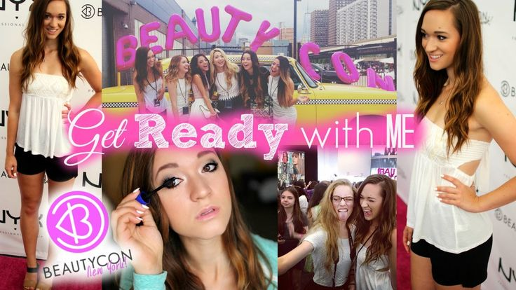 Get Ready with Me ♡ Beautycon Makeup, Hair, and Outfit