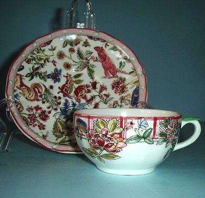 Gien France Jardin Imaginaire Breakfast Cup \u0026 Saucer New & 384 best Gien La France images on Pinterest   Dinner ware Dishes ...