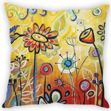 Stybuzz Painting Art Yellow Cushion Cover