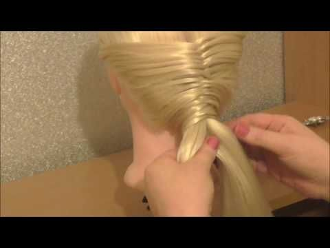 Back to Front Messy Fishtail Braid Hairstyle / Hair Tutorial / HairGlamour
