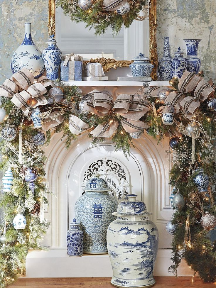 A tribute to traditional blue-and-white ware, our exclusive French Blue and Linen Ornament Collection celebrates the season with crisp elegance.