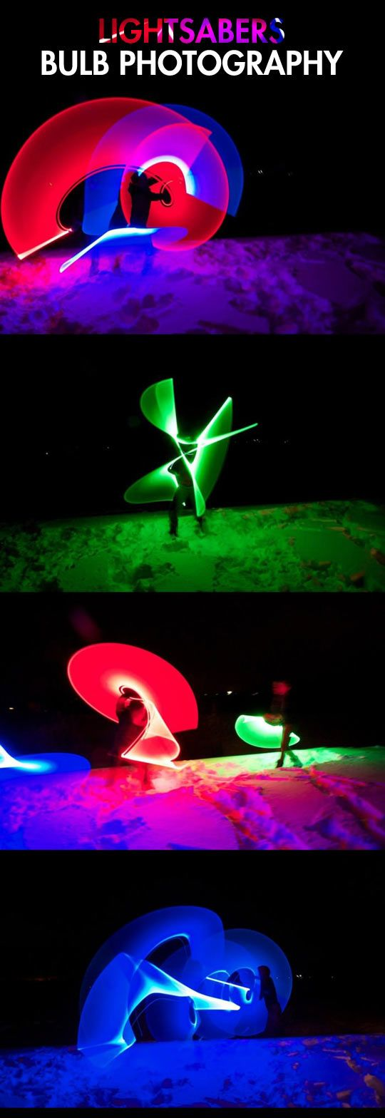 Light painting with lightsabers…click for more