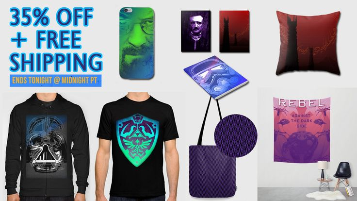 35% OFF + FREE SHIPPING gifts for ALL!! #sales #discount #save #discountgifts #discountgifts #zeldagifts #totebags #tshirts #bikerstank #beachtowel #pouch #walltapestry #legendofzeldawalltapestry #notebook #schoolnotebook #geekgifts #babygifts #bunny #travelmug #iPhonecase #breakingbad #scifimovie #society6 #giftsforhim #giftsforher #leggings #moderngifts #kidsroom #home #homegifts #homedecor #kidsgifts #poegifts #edgarallanpoe #fantasygifts