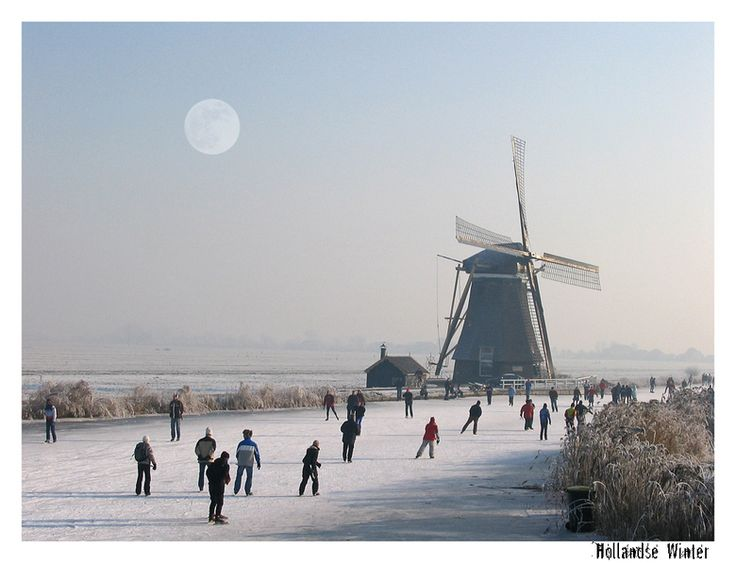 Winter in Holland.