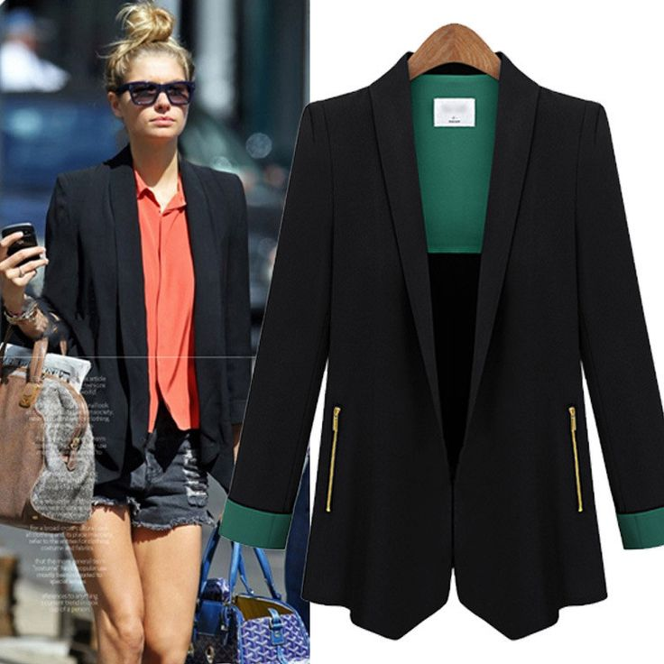 OL style is more and more popular and this short coat with patchwork design can make you looked fashion and it is very suitable for some woman who shoulder go to work and this coat do show yourself gl