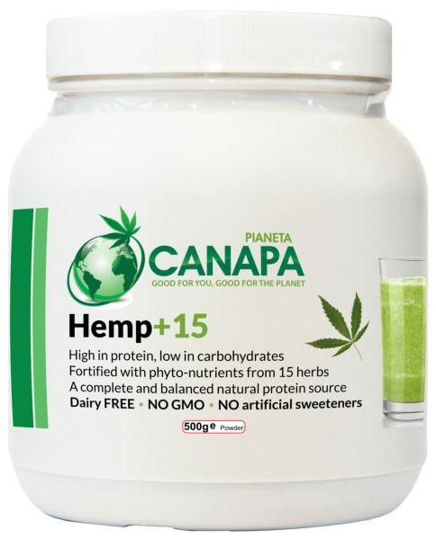 Hemp+15, proteine della canapa con 15 erbe nutritive