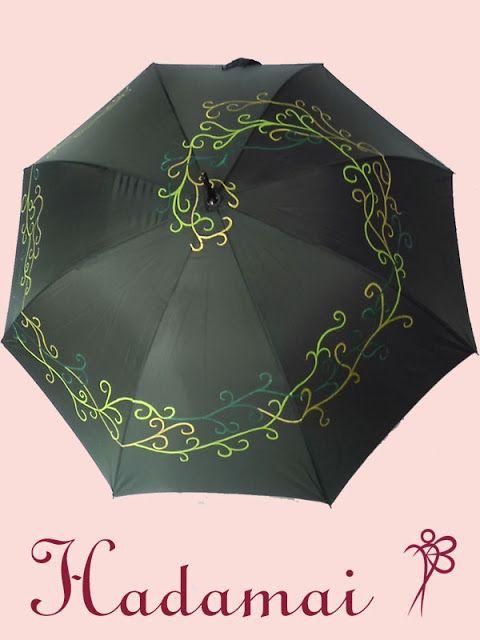 HADAMAI: Paraguas verde con espiral