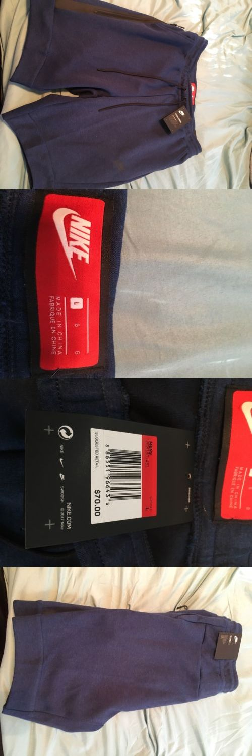 Athletic Apparel 137084: Men'S Nike Tech Fleece Shorts Brand New Size L -> BUY IT NOW ONLY: $43 on eBay!