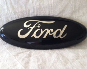 Custom Ford Emblem Black with Pink logo. by CustomizedEmblems