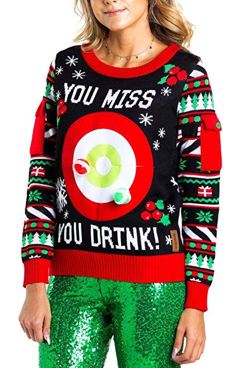 6746cbe9a1 Ripple Junction Elf Buddy Santa I Know Him Pattern Adult Ugly Christmas  Sweater
